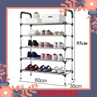 Kệ giày dép 5 tầng inox cao cấp đa năng