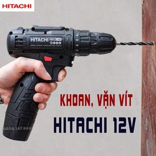 Máy khoan, bắn vít pin Hitachi 12V - Máy bắn vít cầm tay 12V - 25 cấp độ