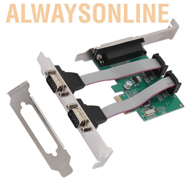 Bộ chuyển đổi PCI-E sang 2 thẻ nối + 1 khe cắm song song mở rộng PCI LPT chất lượng cao