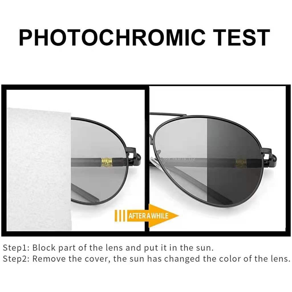 HÀNG CAO CẤP - Kính mát phân cực chống tia UV400 tròng kính đổi màu có thể sử dụng ngày...