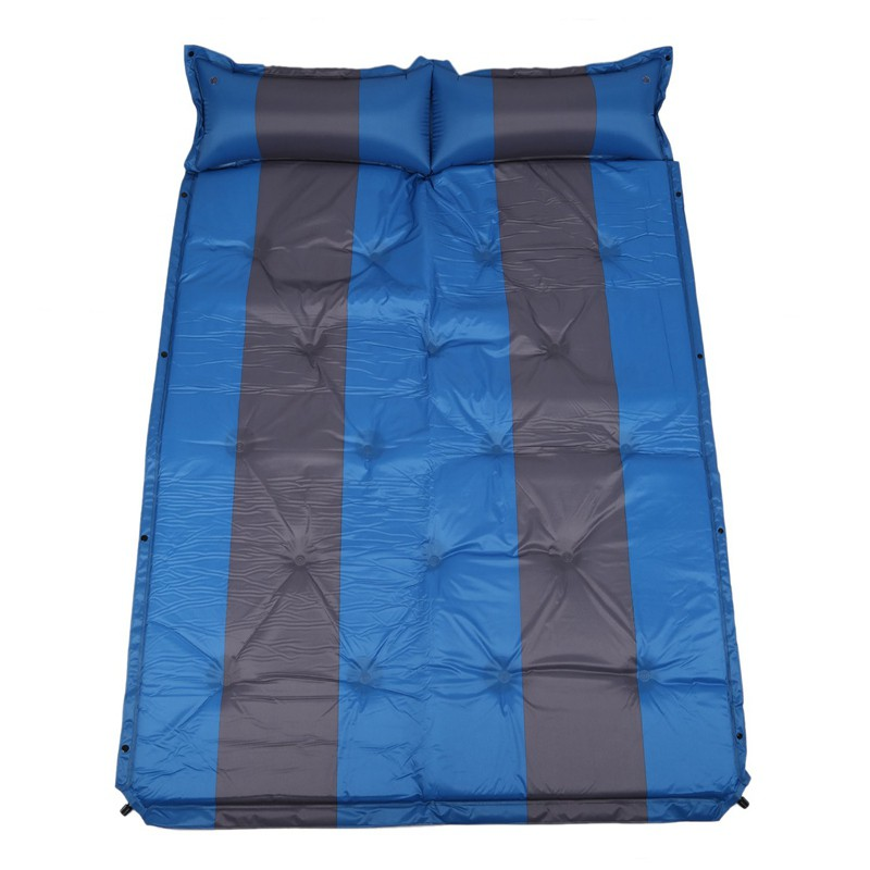 Double Person Self Inflating Sleeping Pad With Attached Pillow ZJV