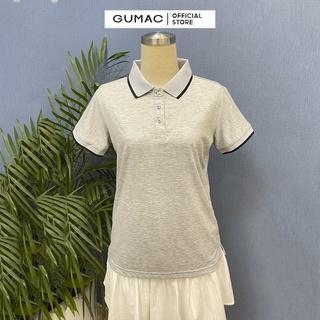 Hình ảnh Áo thun polo nữ, xẻ lai GUMAC đủ màu đủ size, thiết kế basic ATB109-2
