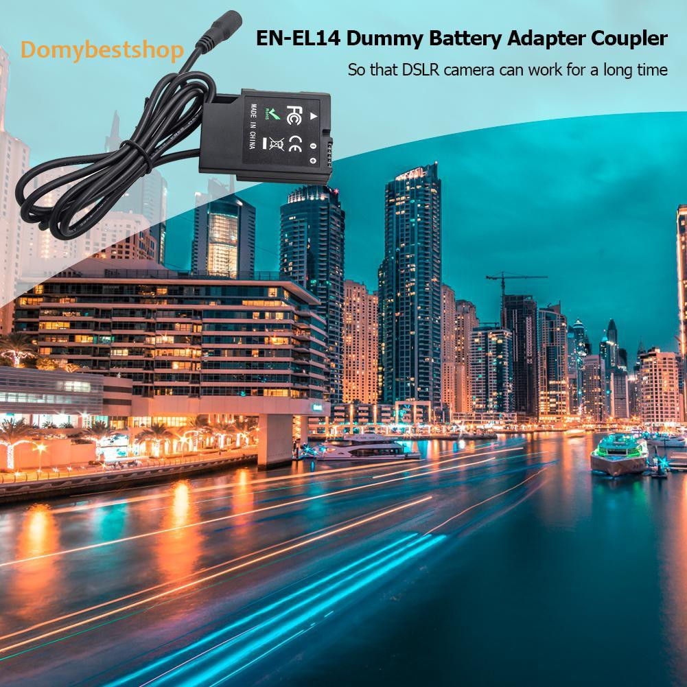 「domybestshop」 EN-EL14 Dummy Battery Adapter DC Coupler Power Adapter for Nikon Camera