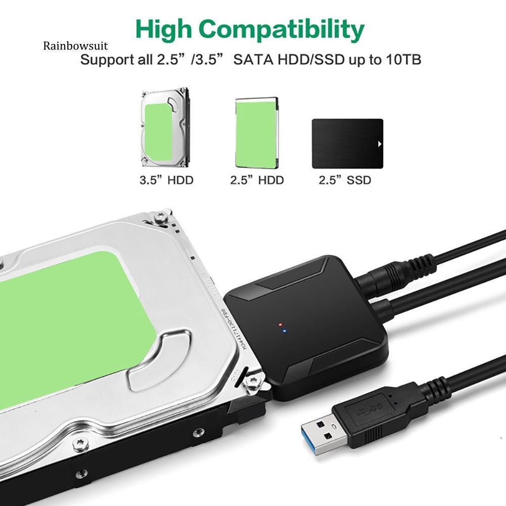 Dây cáp chuyển đổi ổ cứng SATA sang USB 3.0 2.5 / 3.5 HDD SSD