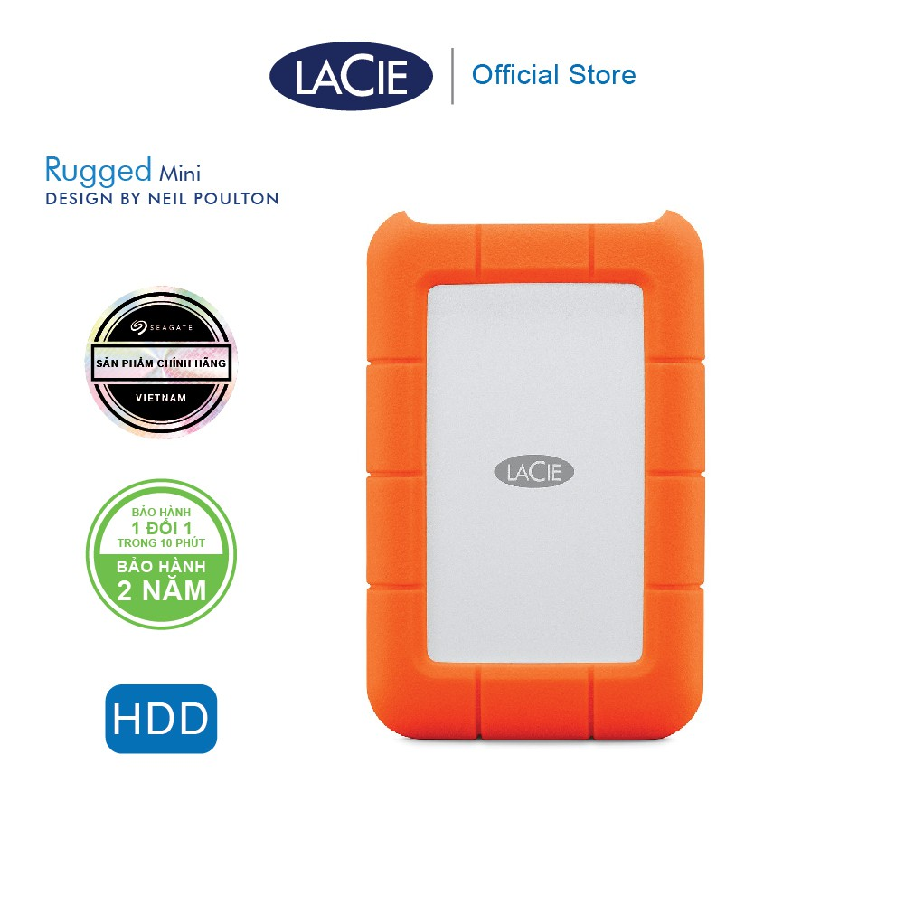 Ổ Cứng Di Động Chống Sốc Lacie Rugged Mini 1TB, 2TB, 4TB_USB 3.0