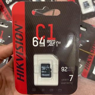 [Mã ELFLASH5 giảm 20K đơn 50K] Thẻ nhớ HIKVISION 64GB 92MB/s - Chính Hãng - Bảo Hành 2 Năm
