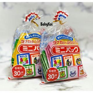 Gia vị rắc cơm nội địa Nhật cho bé ăn dặm 6 vị gồm 30 gói nhỏ (date 2022)