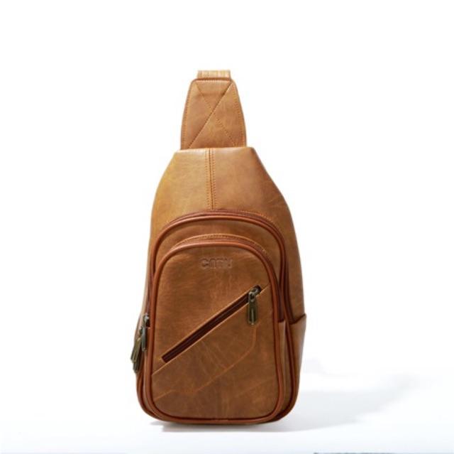 Túi da đeo chéo CNT Unisex phong cách hàn quốc CNT1