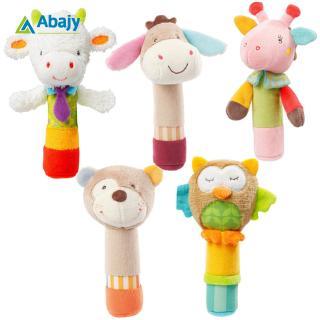 Baby Cute Cartoon BB Stick Rattle Soothe Newborn Baby Hand Stick Plush Toy