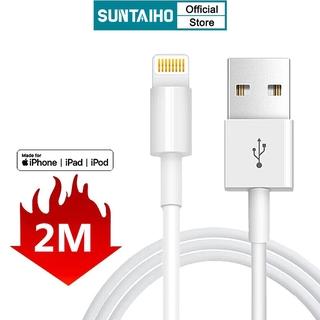 Cáp sạc nhanh Suntaiho từ cổng USB sang cổng lightning dài 2M cho iPhone 12 Pro Max 12 mini 11 Pro Max Xr Xs 6s 7 8