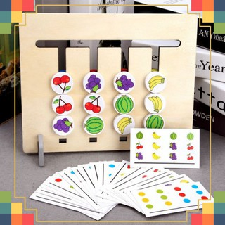 HOT Đồ Chơi Cho Bé FOUR COLOR GAME Montessori Four Colors Game Matching thumbnail