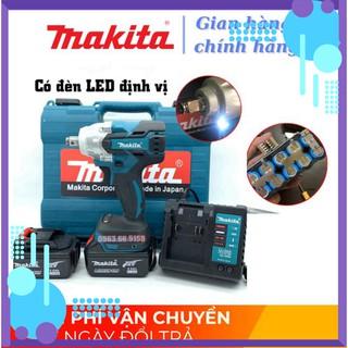 [Chính Hãng] Máy siết bulong Makita 72v, 2 pin, đầu 2 trong 1, 100% dây đồng, không chổi than, tặng đầu khoan .