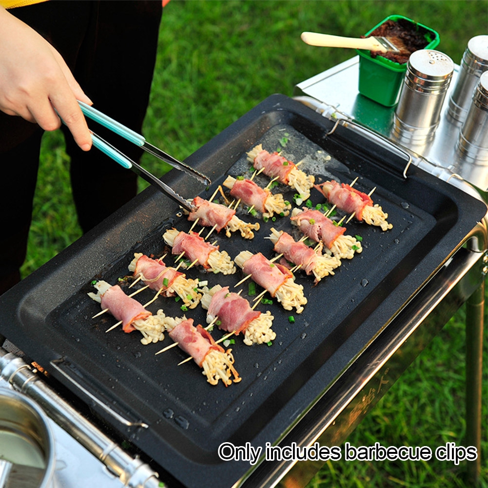Barbecue Cooking Clinic Food Tongs Durable Multifunctional Korean Style Stainless Steel Practical