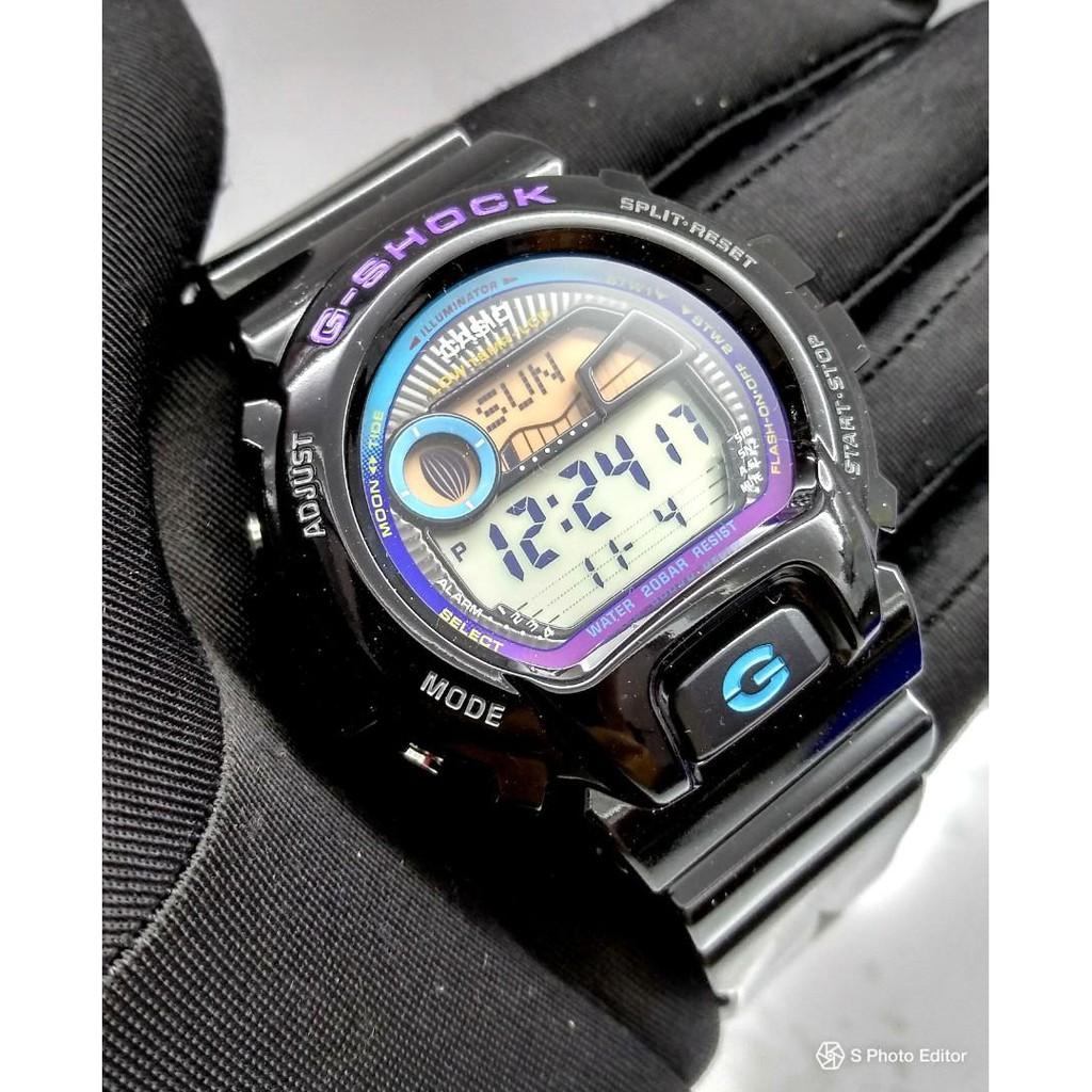 Đồng Hồ Nam Casio G Shock GLX-6900-1DR Dây Nhựa Màu Đen - Có Đồ Thị Thuỷ Triều- chốn