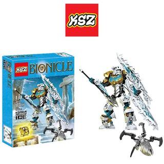 Bộ Xếp Hình Bionicle KSZ 708-2 Lắp Ráp Mô Hình Thần Băng Kopaka 97 Chi Tiết