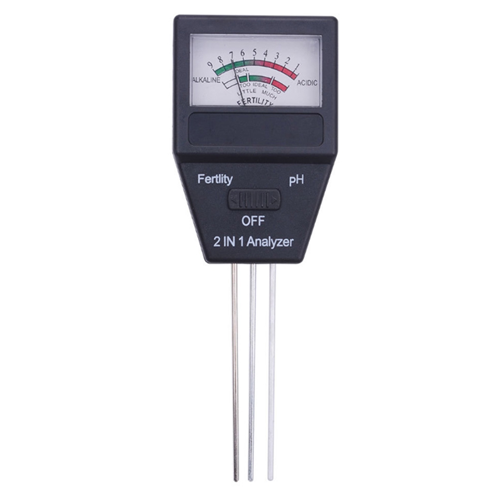 2 In 1 Flowers Fertility Analyzer Alkalinity Lawn Soil Tester Farm Vegetable Detector Portable Digital PH Meter Acidity