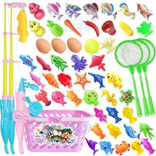 Trẻ em trẻ em câu cá đồ chơi từ tính chơi nước tắm quà tặng sinh nhật 1-2-3-5-6 tuổi đồ chơi