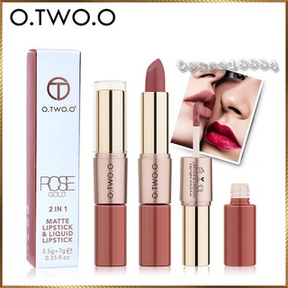 Thỏi son kem hỗn hợp O.TWO.O 2 in 1 Matte Lipstick & Liquid Lipstick LLL1 thumbnail