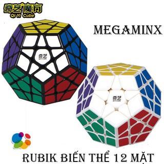 Đồ chơi Rubik Biến Thể QiYi Megaminx 12 Mặt Viền Đen Xoay Trơn Bẻ Góc Tốt