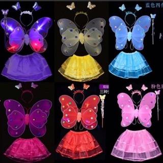 Bộ cánh bướm kép 4in1 có đèn nháy (mầu ngẫu nhiên)