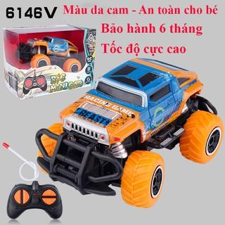 Xe điểu khiển từ xa xe oto đồ chơi cho bé tốc độ cao ,dẫn động 2 bánh nhựa ABS an toàn (bảo hành 6 tháng) màu cam