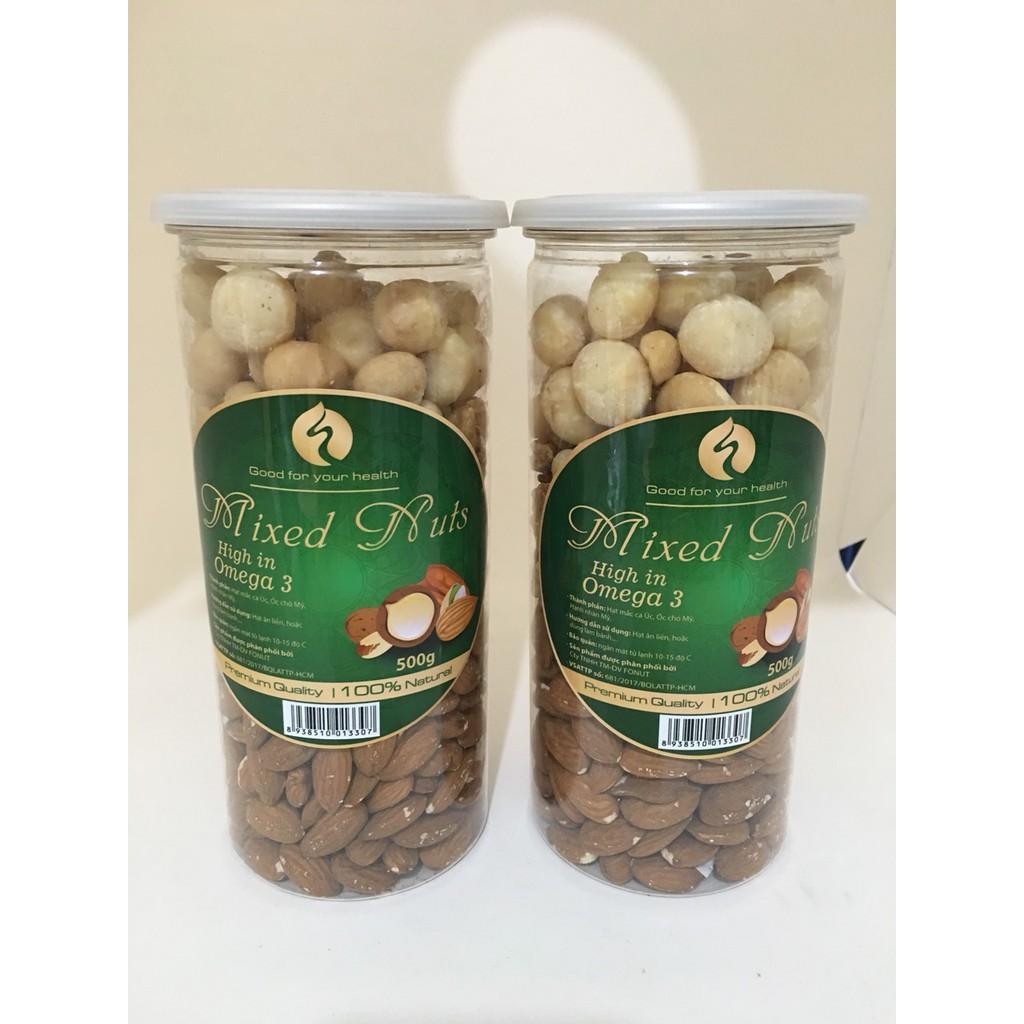 Hộp Mixed Nuts 3 In 1 Đã Tách Vỏ - 500gr (Óc Chó Đỏ, Hạnh Nhân, Macca Úc) Hộp Mixed Nuts 3 In 1 Đã Tách Vỏ - 500gr (Óc Chó Đỏ, Hạnh Nhân, Macca Úc)