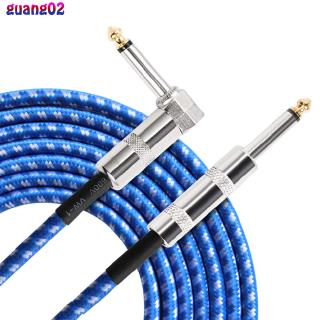 Flanger 3M Instrument Cable for Electric Guitar Straight to Right Angle TS Male 1/4″ 6.35mm Plug