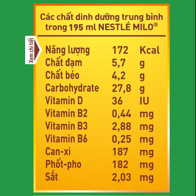 [Mã GRO1NEST19 giảm tối đa 35K đơn 150K] Thùng 30 hộp sữa ngũ cốc Nestle Milo 195ml/ hộp