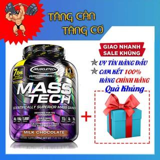Sữa tăng cân Mass Tech – hộp 7lbs – Vị Chocolate, Vani – Kèm quà tặng – Hàng Chính Hãng Muscletech USA