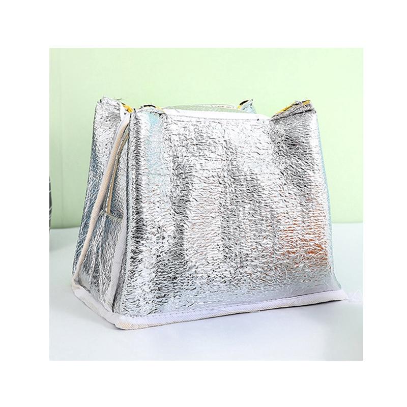Túi đựng cơm trưa bằng canvas lót màng nhôm di động tiện dụng