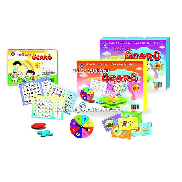 [nhập SHOPVN25 giảm thêm 25%] Thử tài Ô carô - Bộ đồ chơi phát triển tư duy - Combo 2 tập