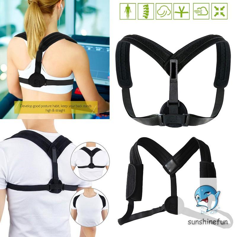 Back Posture Corrector Clavicle Support Belt Back Slouching Corrective Adjustable Spine Braces