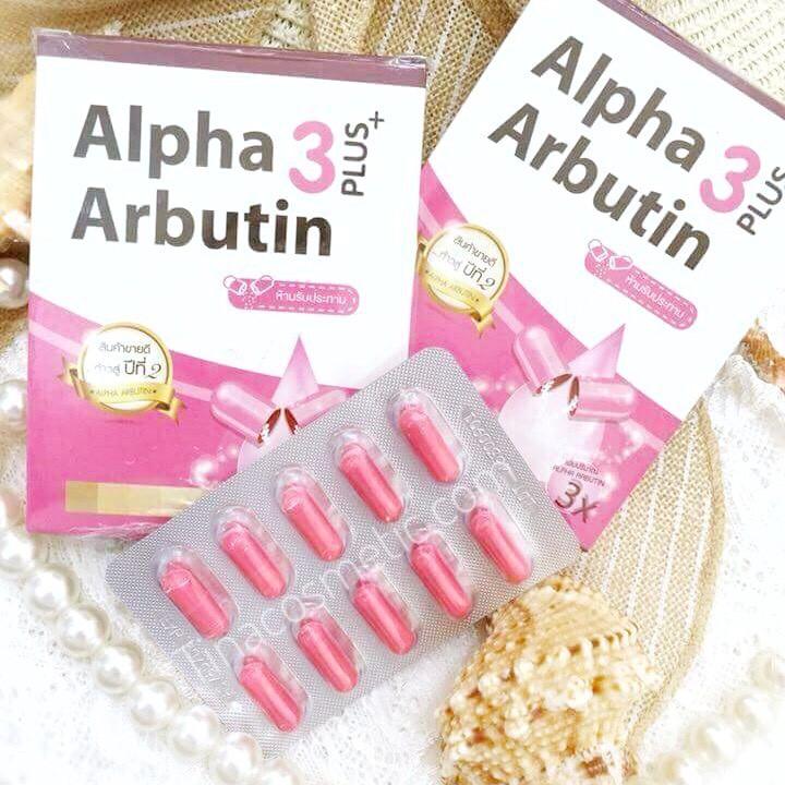Combo Vaseline 4X và 1 vỉ alpha burttin kích trắng da