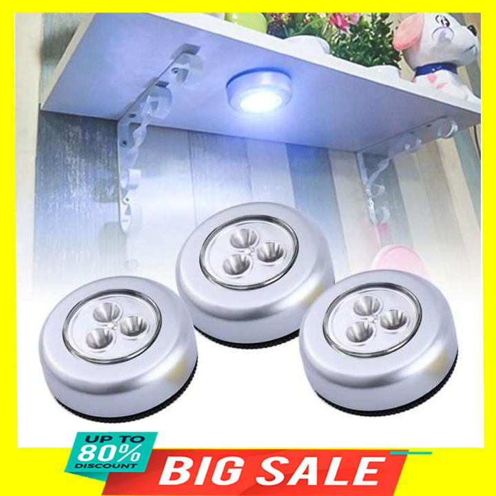 Bóng đèn không dây thông minh 3 bóng dán tường siêu chắc sử dụng pin AAA