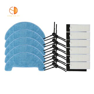 Side Brush Hepa Filter Mopping Cleaning Cloth Sets For Ecovacs Cen550/Cen661/Cen665/Cen663