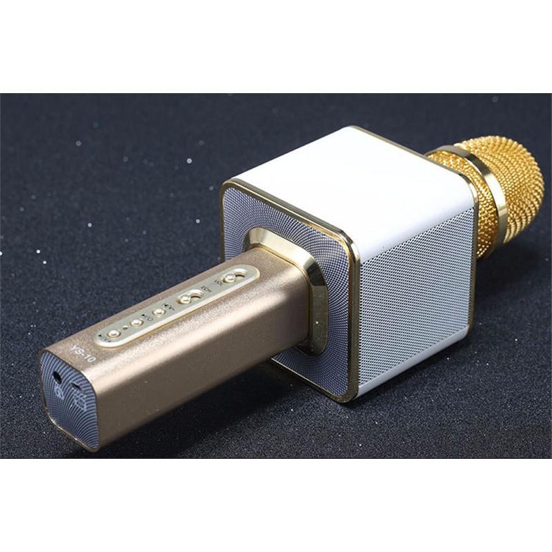 Micro hát karaok bluetooth kèm loa YS10 (vàng)