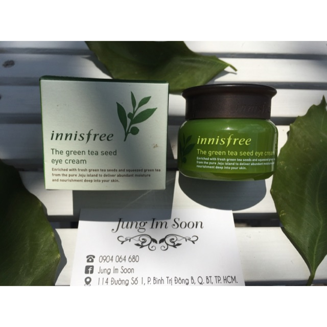 Kem dưỡng vùng mắt Innisfree The green tea seed eye cream