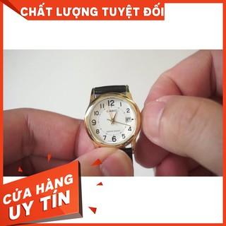 HOT Đồng Hồ Nam Casio MTP-V002GL-7B2UDF Chính hãng Dây Da Đen - Mặt Số Màu Trắng Chinh Hãng
