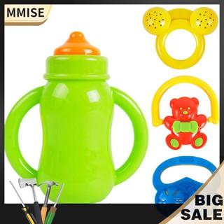 mmise◡̈Fashion Durable 4pcs Baby Rattles Cartoon Toys Early Education Rattle Set