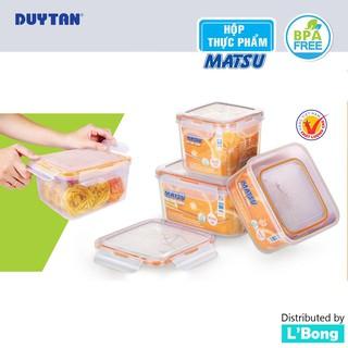 Hộp đựng thức ăn Matsu (Hộp nhựa vuông không BPA)