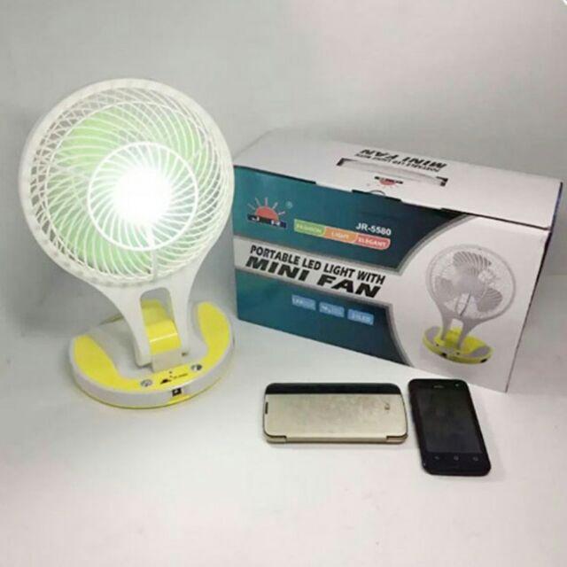 Quạt sạc kiêm đèn Mini Fan M-5580(giao màu ngẫu nhiên)