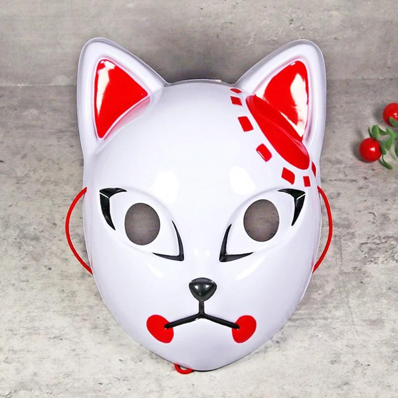 Nhật Bản Anime Cosplay Mặt nạ Quỷ Slayer Kamado Tanjirou Sabito Makomo Mặt nạ Halloween Cosplay Party Trang phục Đạo cụ Mặt nạ cáo