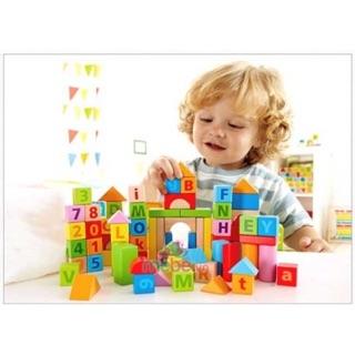 [Đồng hành cùng con] Bộ lắp ghép chữ số, xếp hình lâu đài bằng gỗ cho bé quà tặng từ Friso