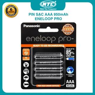 Vỉ 4 pin sạc AAA Eneloop Pro 950mAh BK-4HCCE/4BT box Anh new – made in Japan (Đen) Nhất Tín Computer