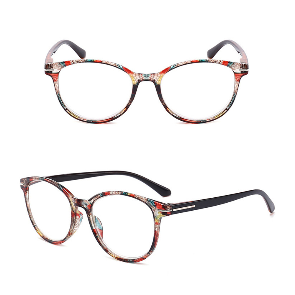 EMILEE💋 Vintage Reading Glasses Women & Men Readers Eyewear Presbyopia Eyeglasses Ultra-clear Vision Round Floral Frame Fashion Anti Glare Spring...