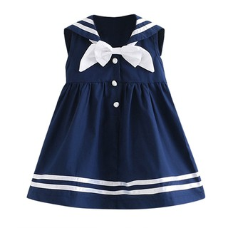 Đầm thủy thủ xinh xắn cho bé gái 3-8 tuổi BBShine– D007