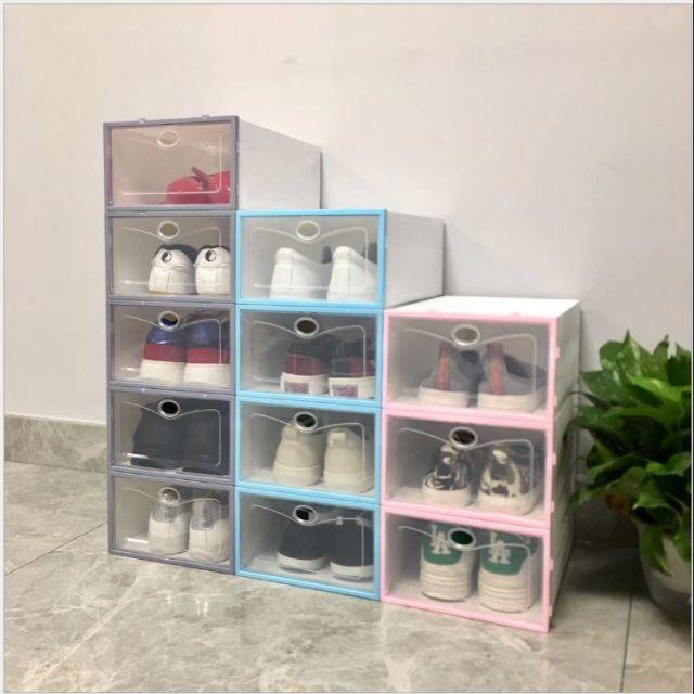 (HCM)Hộp đựng giày nhựa cứng cao cấp