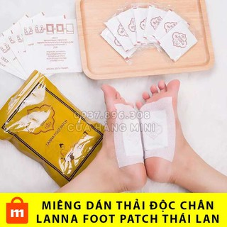 HOT Combo 10 Miếng Dán Thải Độc Chân Lanna Foot Patch Thái Lan thumbnail