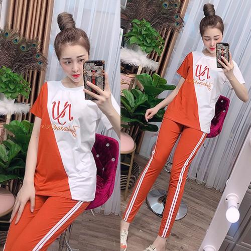 Đồ bộ mặc nhà cotton quần dài tay ngắn - Chất liệu thun co giãn 4 chiều thoáng mát - Anquachi