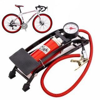 Bơm hơi mini đạp chân, bơm xe đạp, xem máy, ô tô đa năng thumbnail